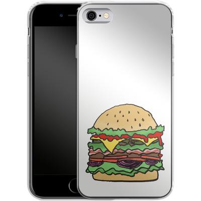 Apple iPhone 6 Silikon Handyhuelle - Burger von caseable Designs