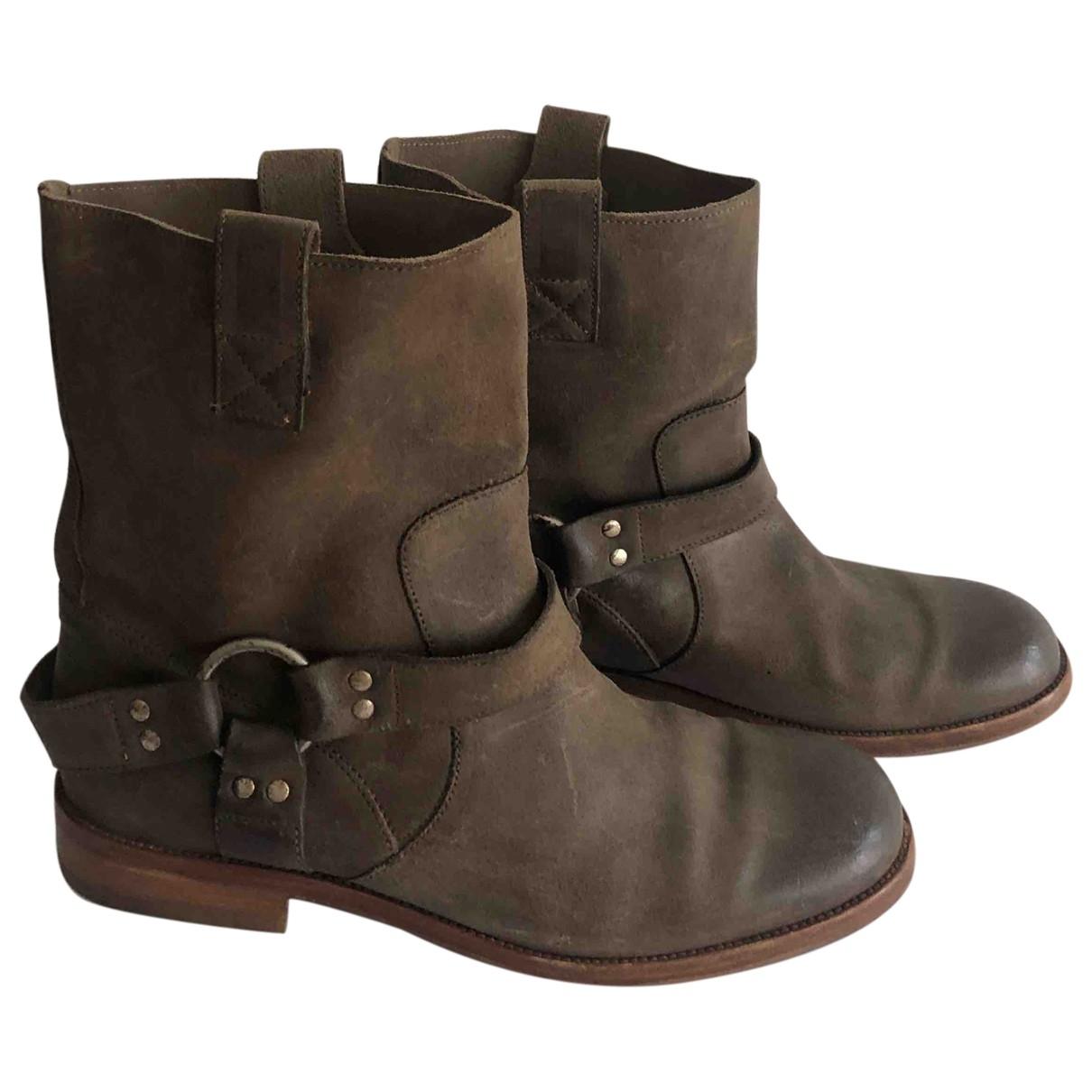 Maison Martin Margiela - Boots   pour femme en suede - beige