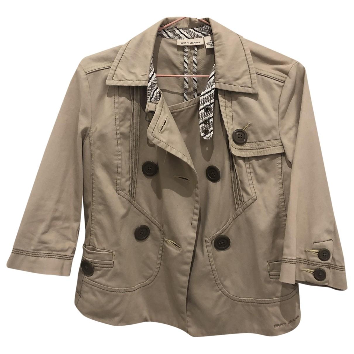 Dkny \N Khaki Cotton jacket for Women M International