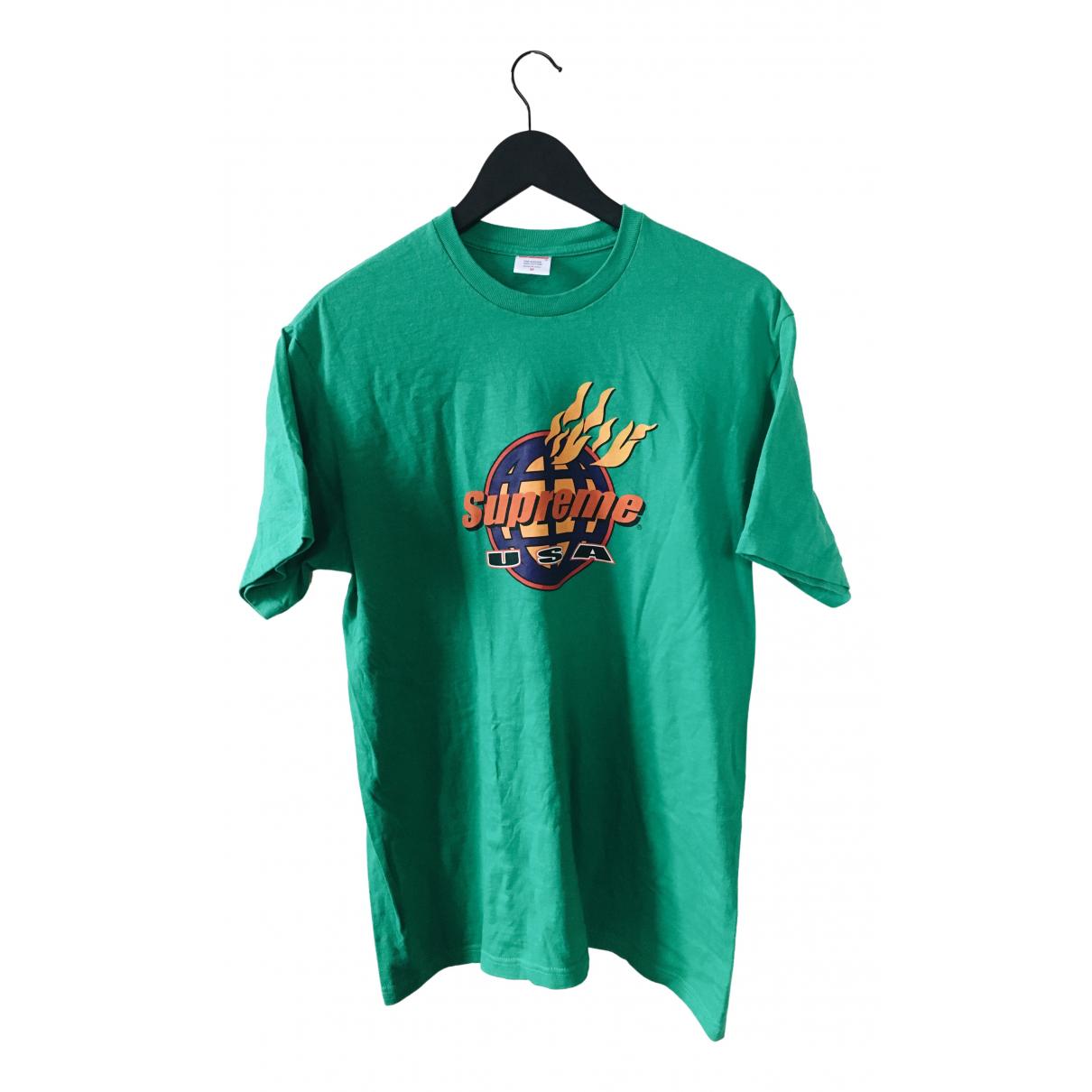 Supreme \N Green Cotton T-shirts for Men M International