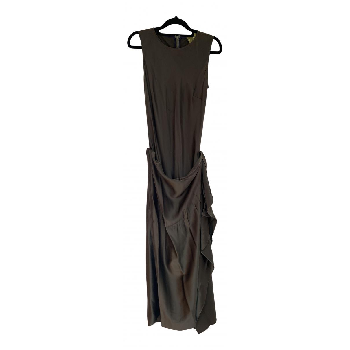 Albus Lumen N Khaki Silk dress for Women S International