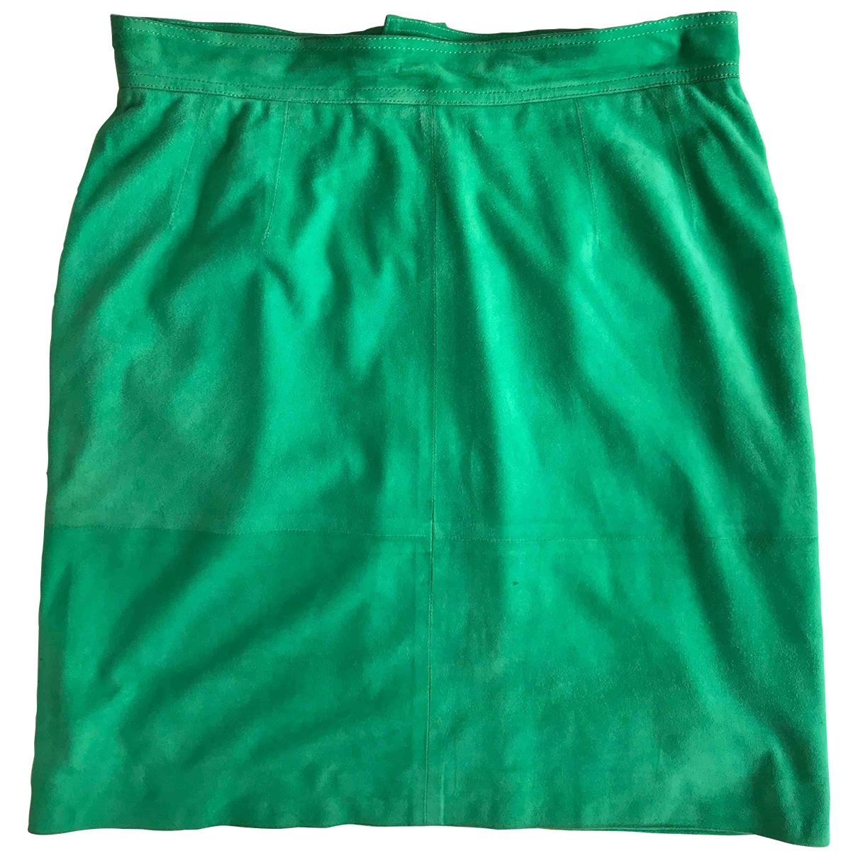 Loewe \N Green Suede skirt for Women L International