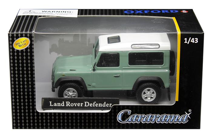 Land Rover Defender Light Green 1/43 Diecast Model Car by Cararama