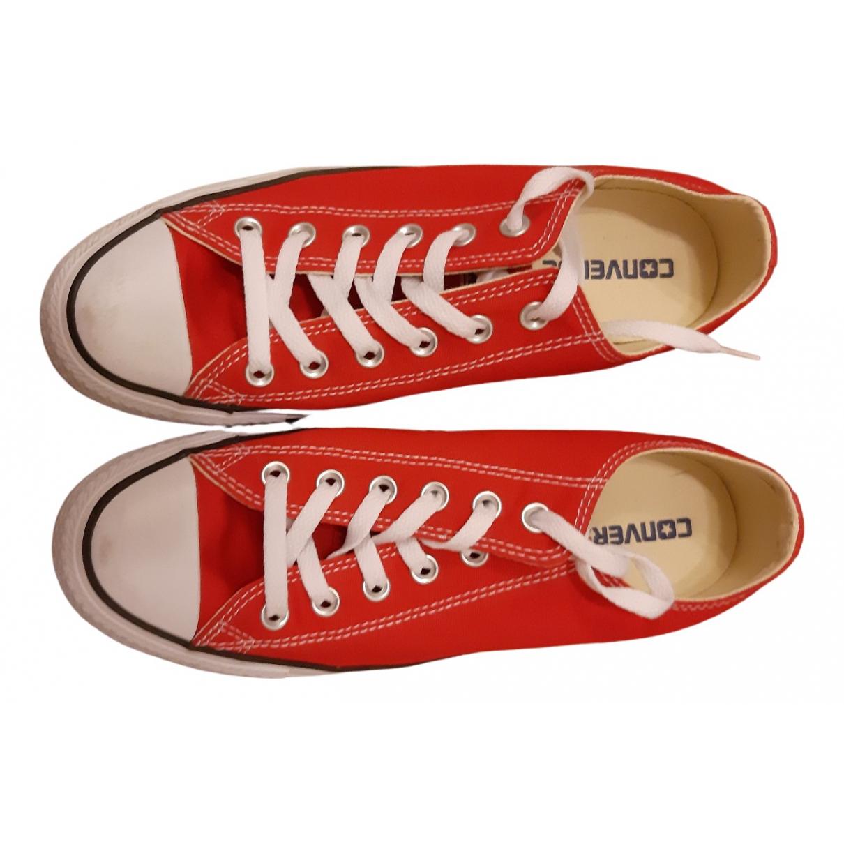 Converse - Baskets   pour femme en toile - rouge