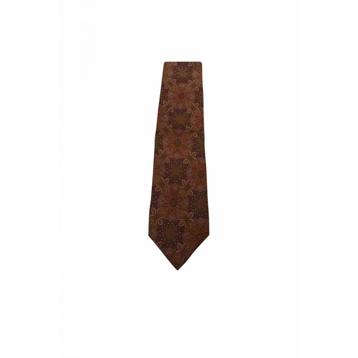 Valentino Garavani \N Brown Silk Ties for Men \N