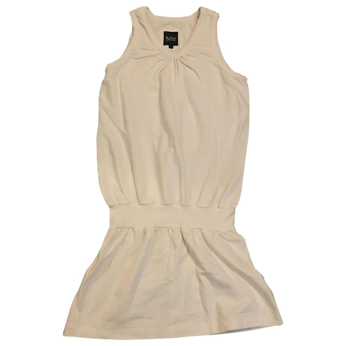 Woolrich - Robe   pour femme en coton - blanc