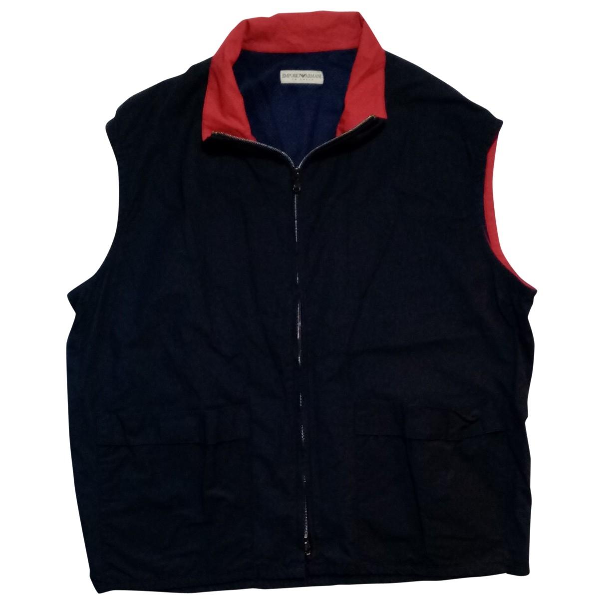 Emporio Armani \N Blue Cotton jacket  for Men 52 IT