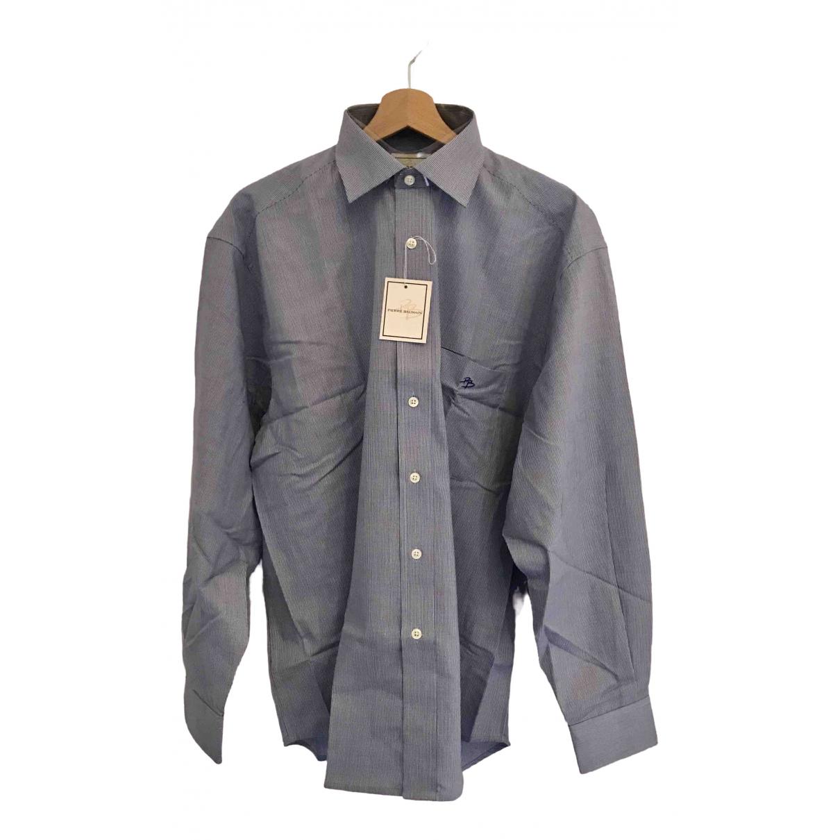 Pierre Balmain - Chemises   pour homme en coton - bleu
