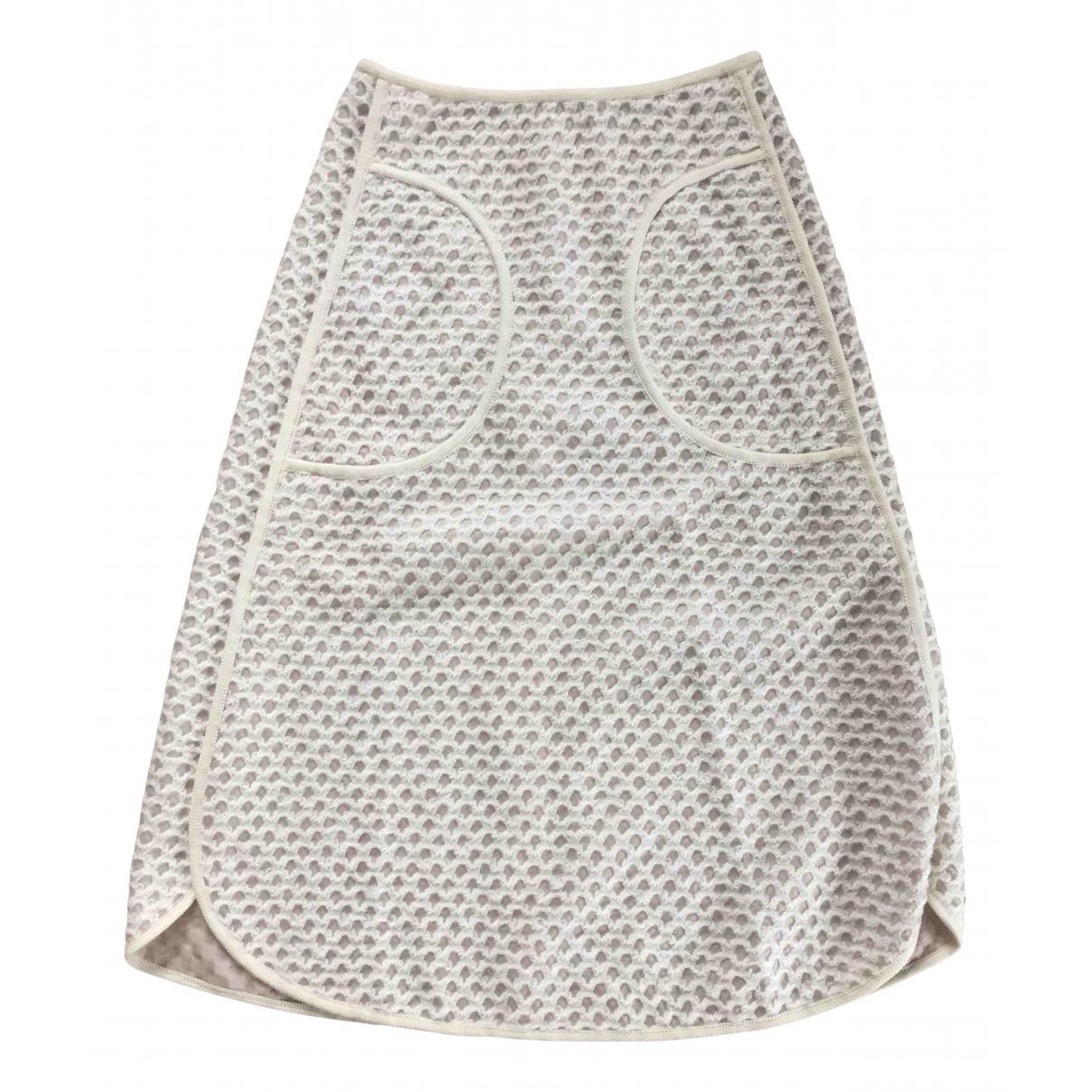 Veronique Leroy - Jupe   pour femme en laine - beige