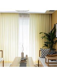 Modern Romantic and Dreamlike Light Yellow Custom Custom Sheer Curtains