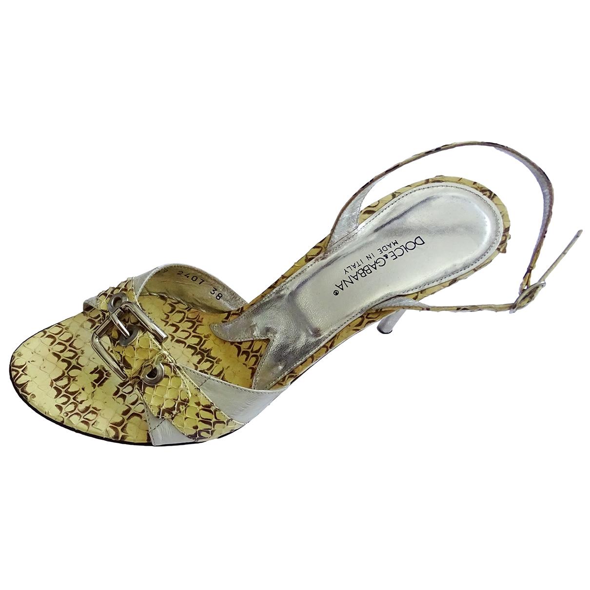 Dolce & Gabbana \N Sandalen in  Gelb Python