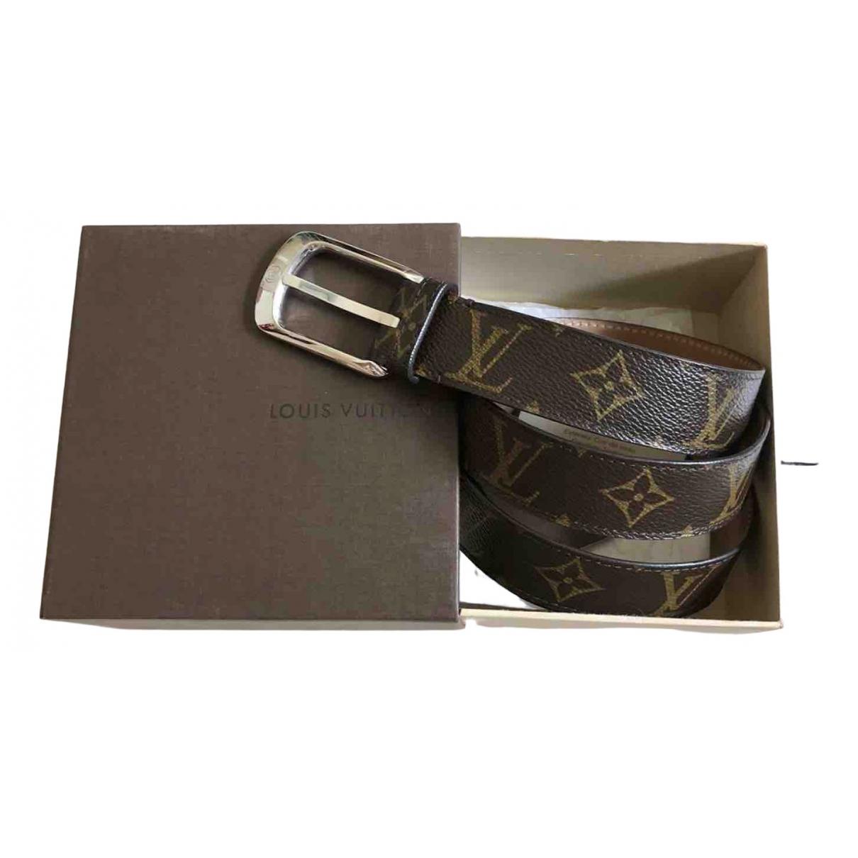 Louis Vuitton \N Guertel in  Braun Leinen