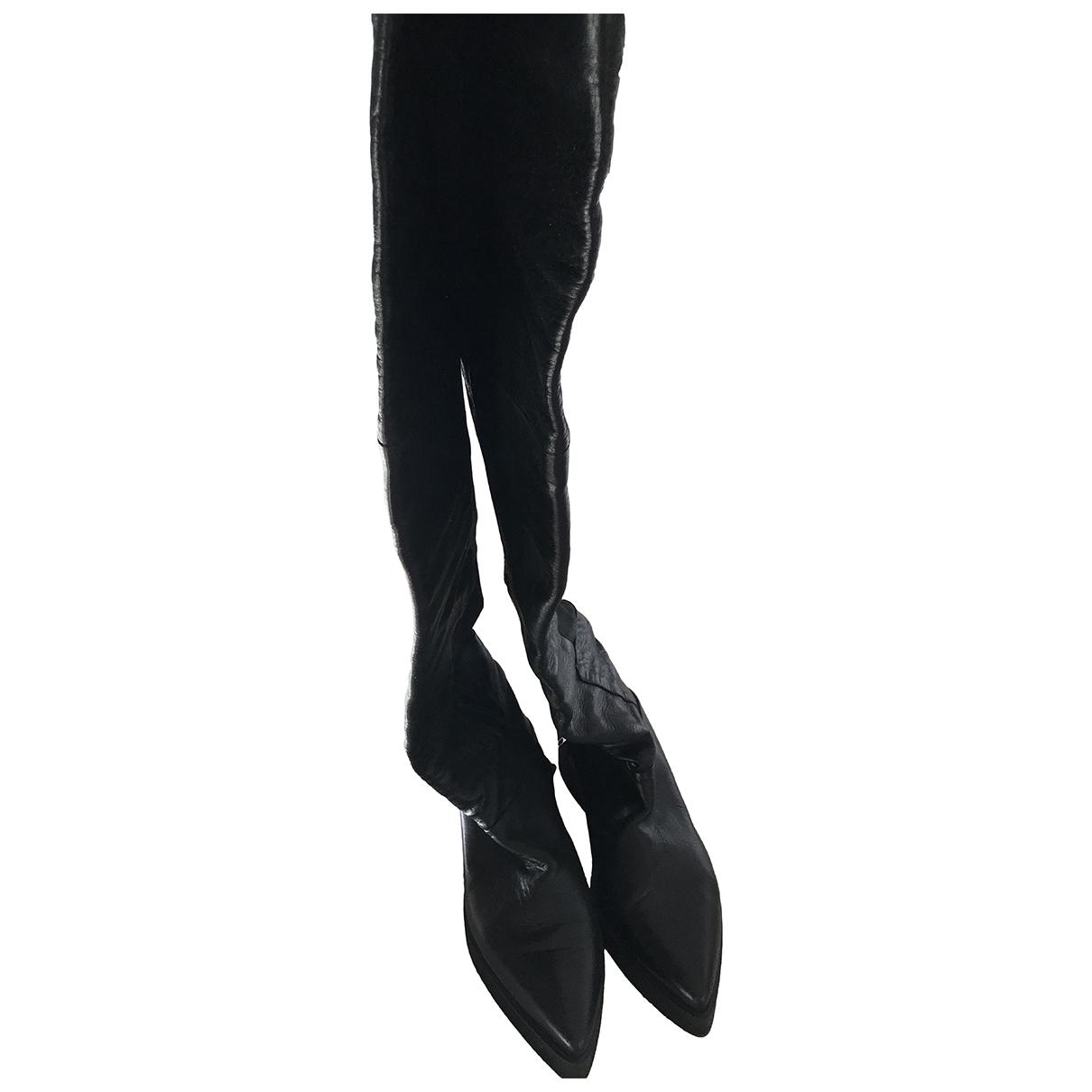 Dondup \N Stiefel in  Schwarz Leder