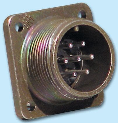 Glenair 3 Way Box Mount MIL Spec Circular Connector Receptacle, Socket Contacts,Shell Size 14S, MIL-DTL-5015