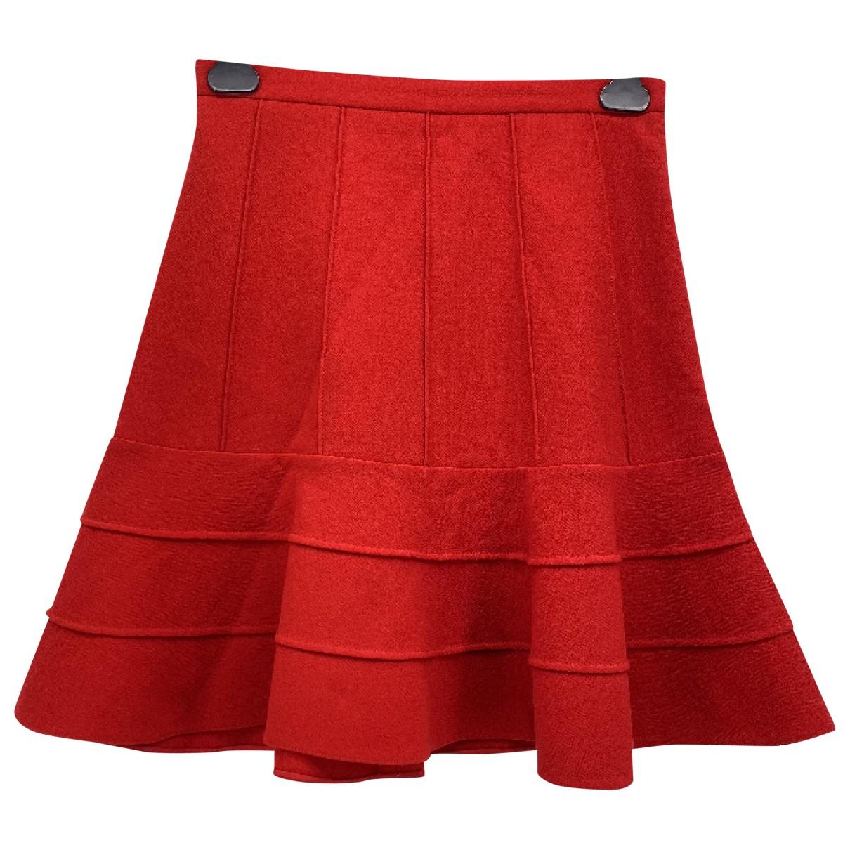 Miu Miu - Jupe   pour femme en laine - rouge