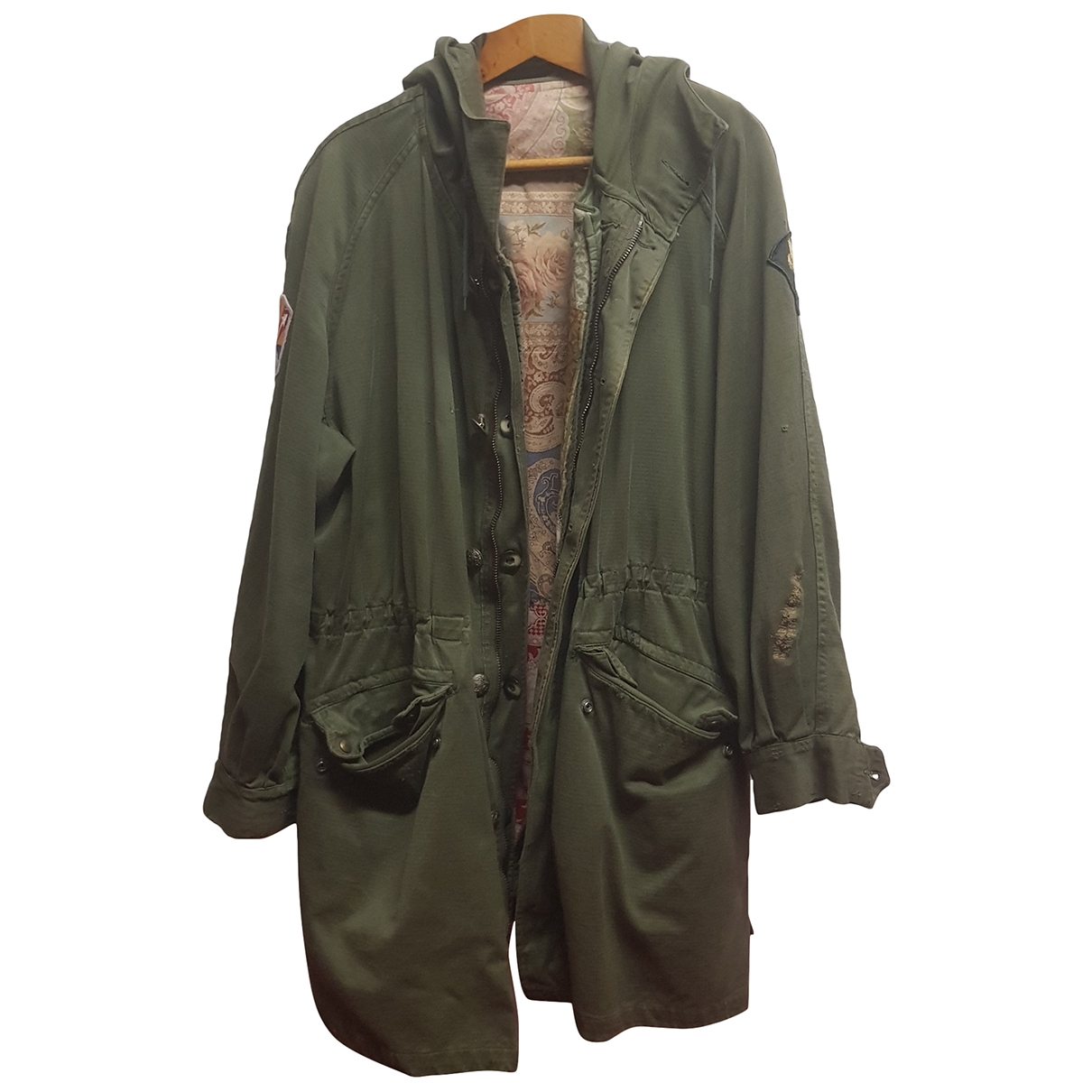 Non Signé / Unsigned Oversize Green Cotton jacket  for Men L International
