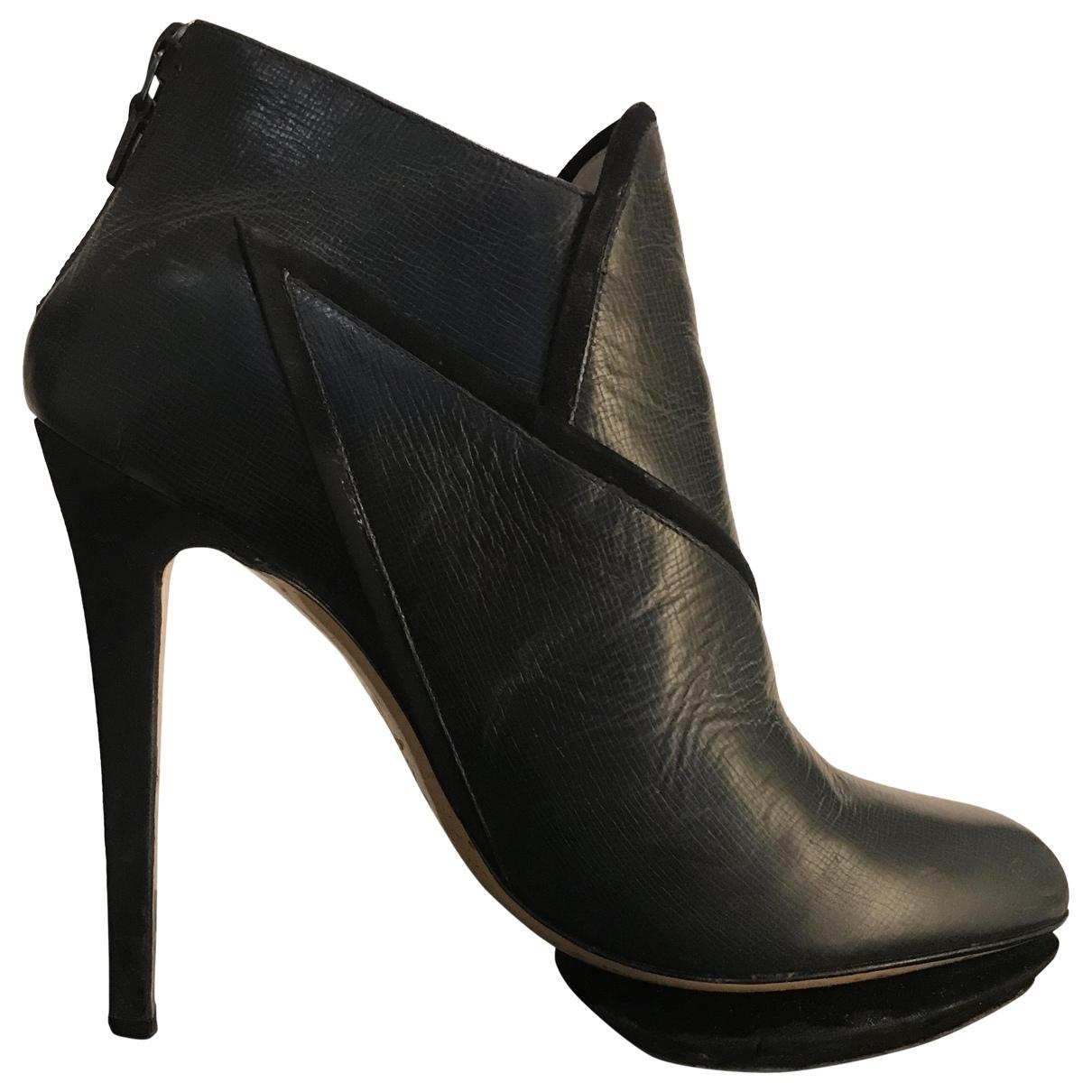 Nicholas Kirkwood - Boots   pour femme en cuir - noir