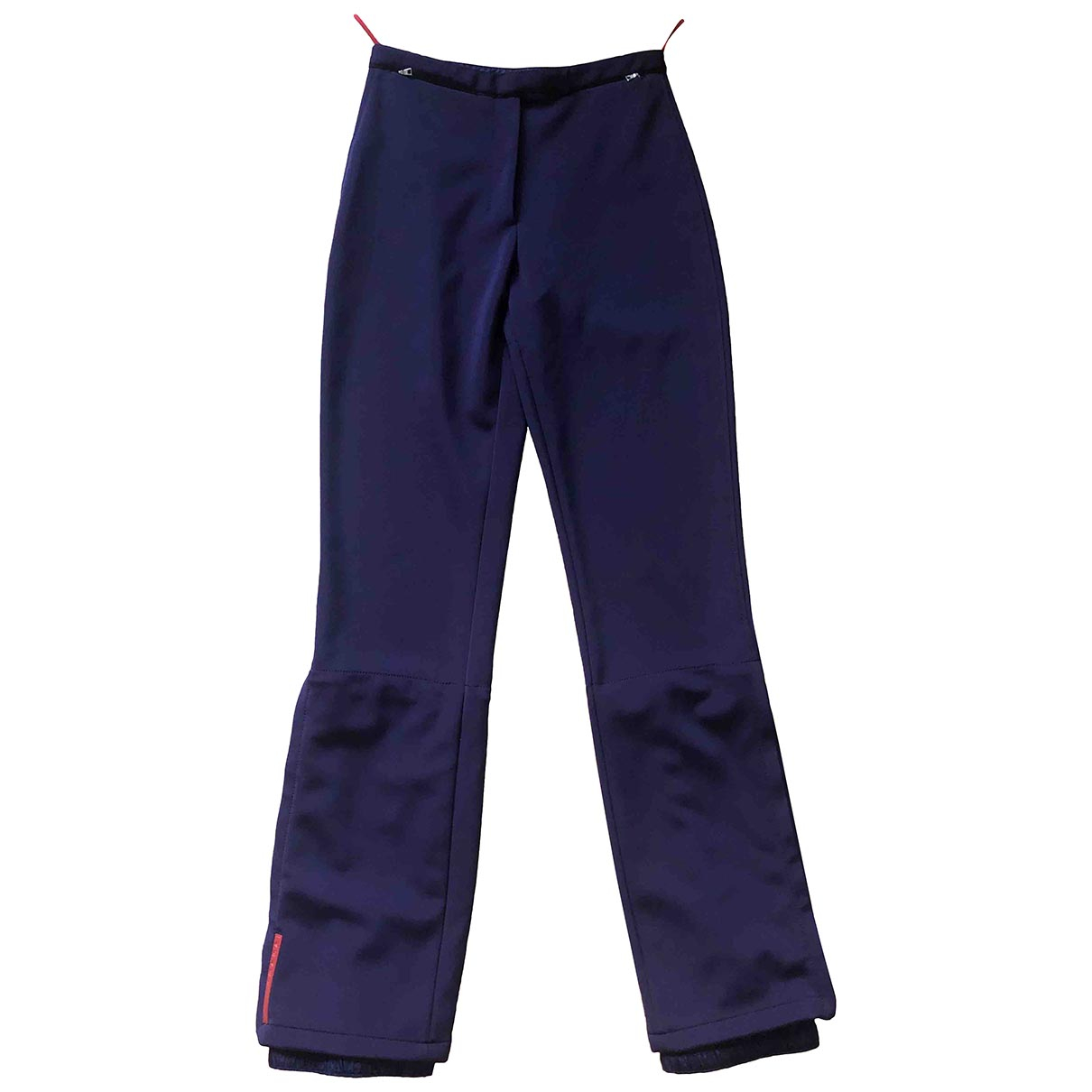 Prada \N Purple Spandex Trousers for Women 38 IT