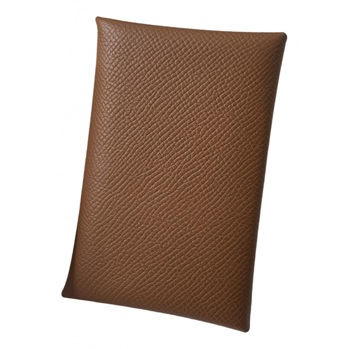 Hermès Calvi Gold Leather Purses, wallet & cases for Women N