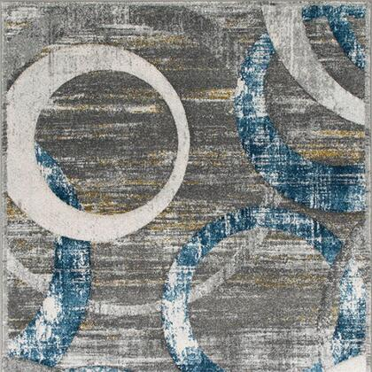 Develi Collection RG5219 5' X 7' Area Rug with Power Loomed  Made of Polyester and Jute Mesh Backing in