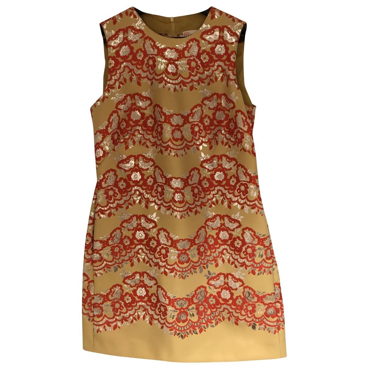 Red Valentino Garavani \N Kleid in  Gelb Seide