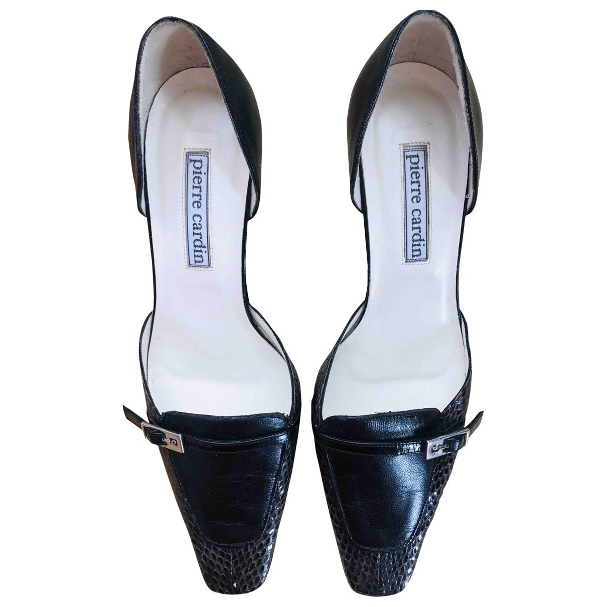 Pierre Cardin \N Black Leather Heels for Women 38 EU
