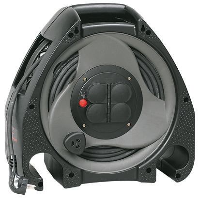 Legrand 25m 4 Socket Type E - French Extension Reel, IP44, Black