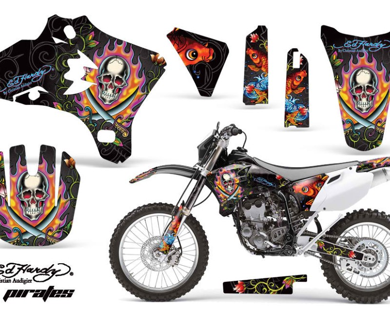AMR Racing Dirt Bike Graphics Kit Decal Wrap For Yamaha YZ250F YZ450F 2003-2005áEDHP BLACK
