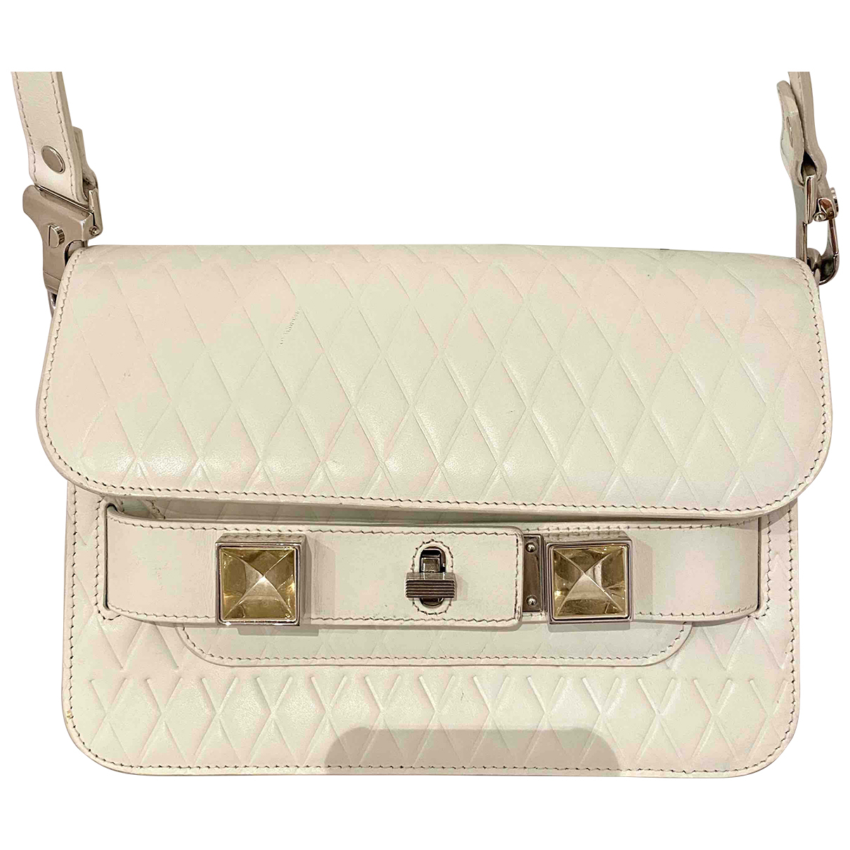 Proenza Schouler PS11 Handtasche in  Weiss Leder