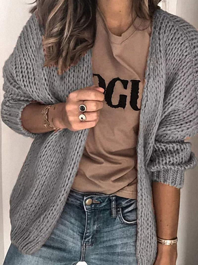 Ericdress Regular Thin Long Sleeve Loose Sweater