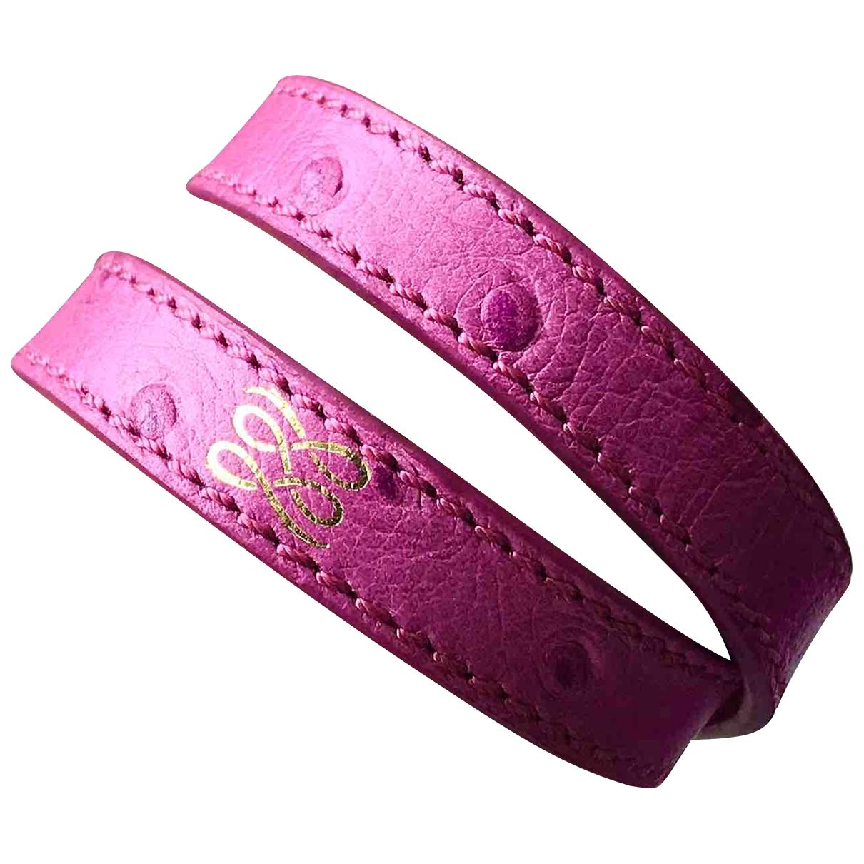 Lancel \N Armband in  Rosa Leder