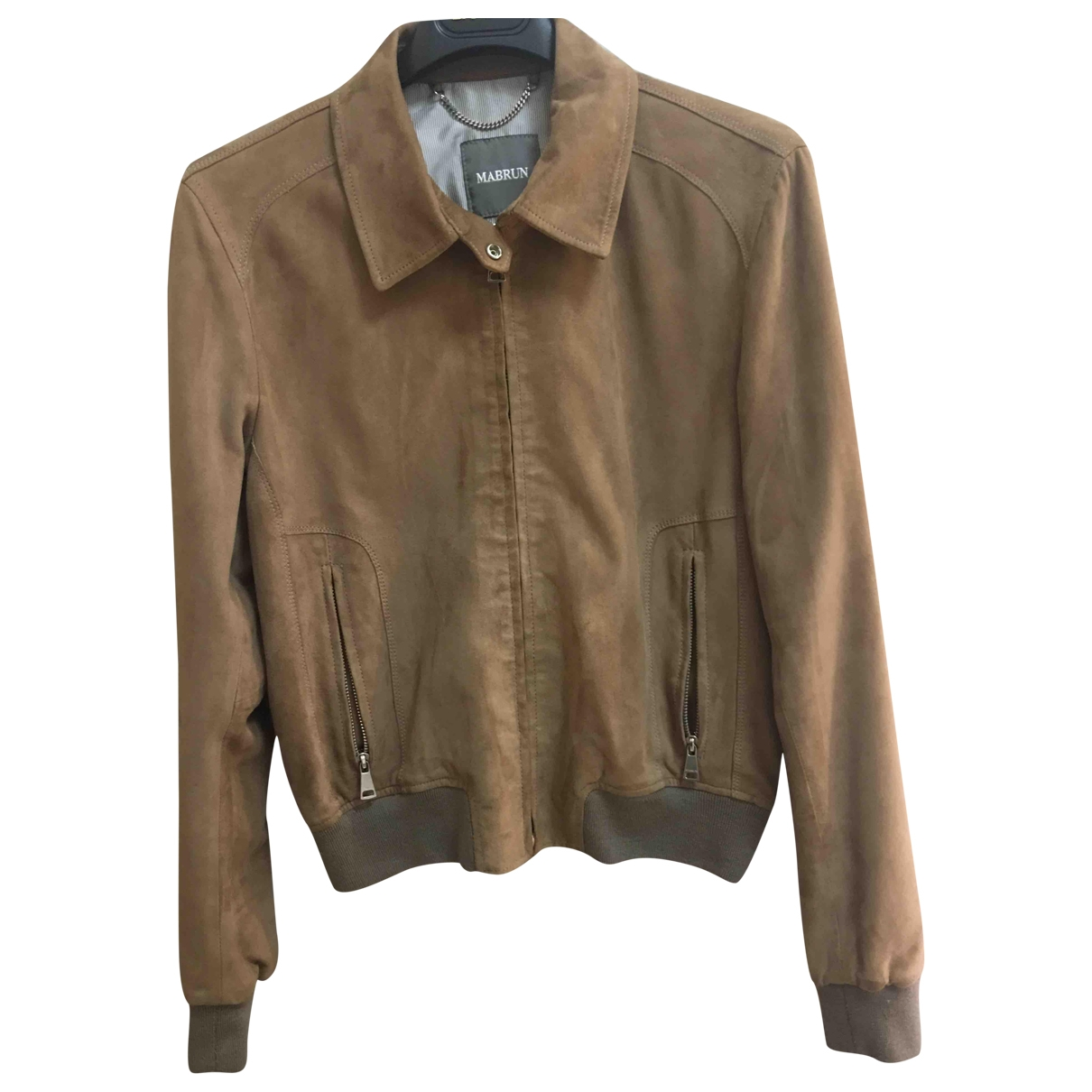 Mabrun \N Camel Leather Leather jacket for Women 42 IT