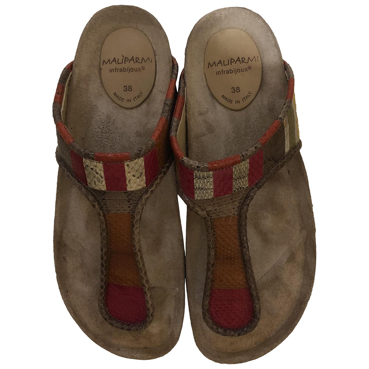 Maliparmi \N Sandalen in  Rot Leder
