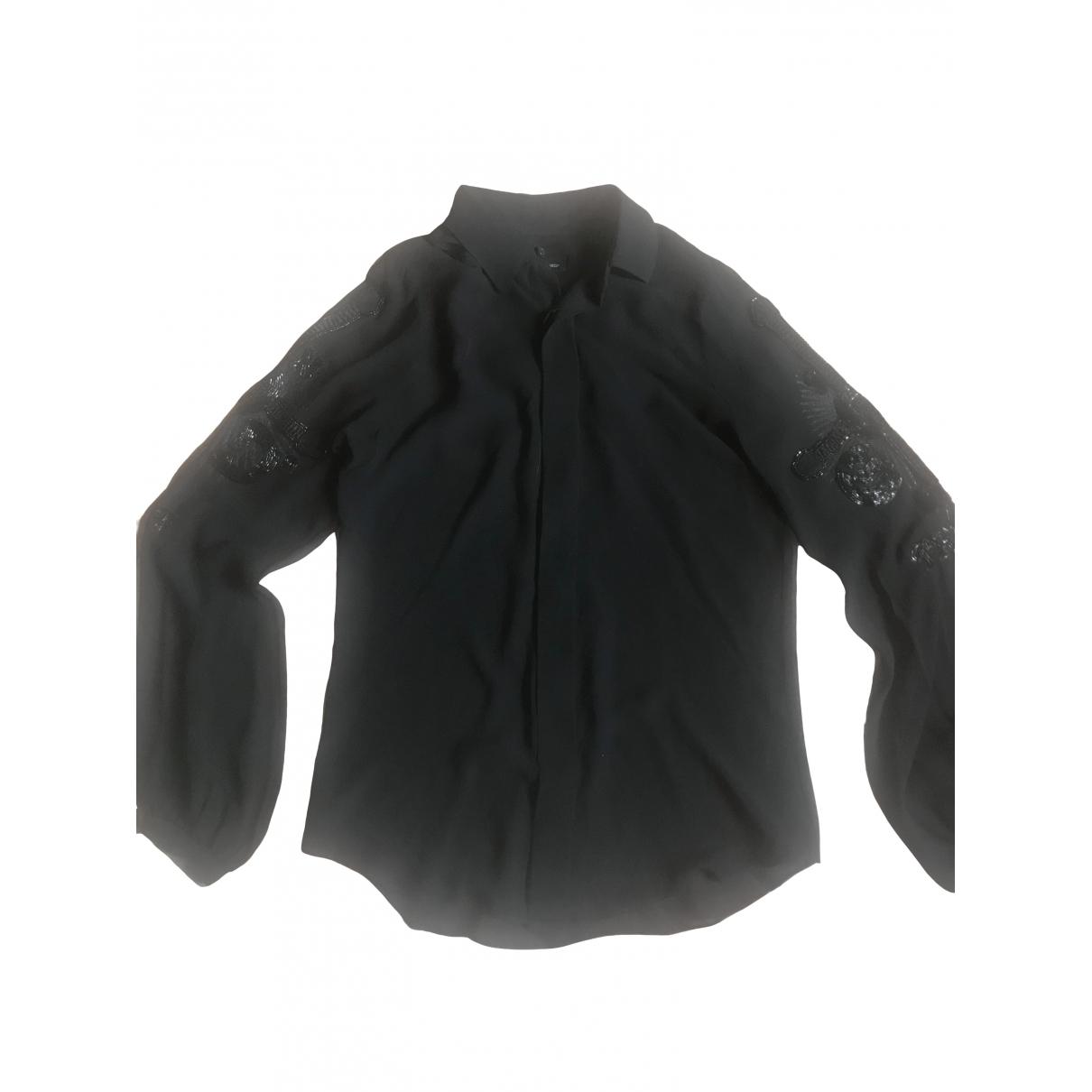 Dsquared2 \N Black Silk  top for Women 40 IT