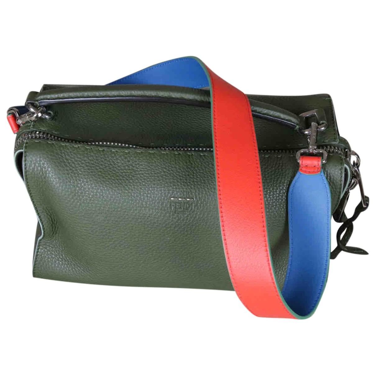 Fendi Sac Lei Handtasche in  Gruen Leder