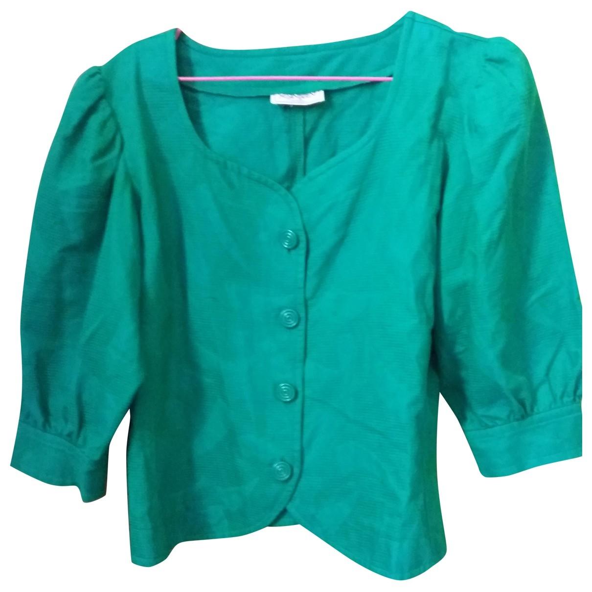 Yves Saint Laurent - Veste   pour femme en coton - vert