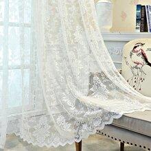 1 pieza cortina con encaje con bordado de flor