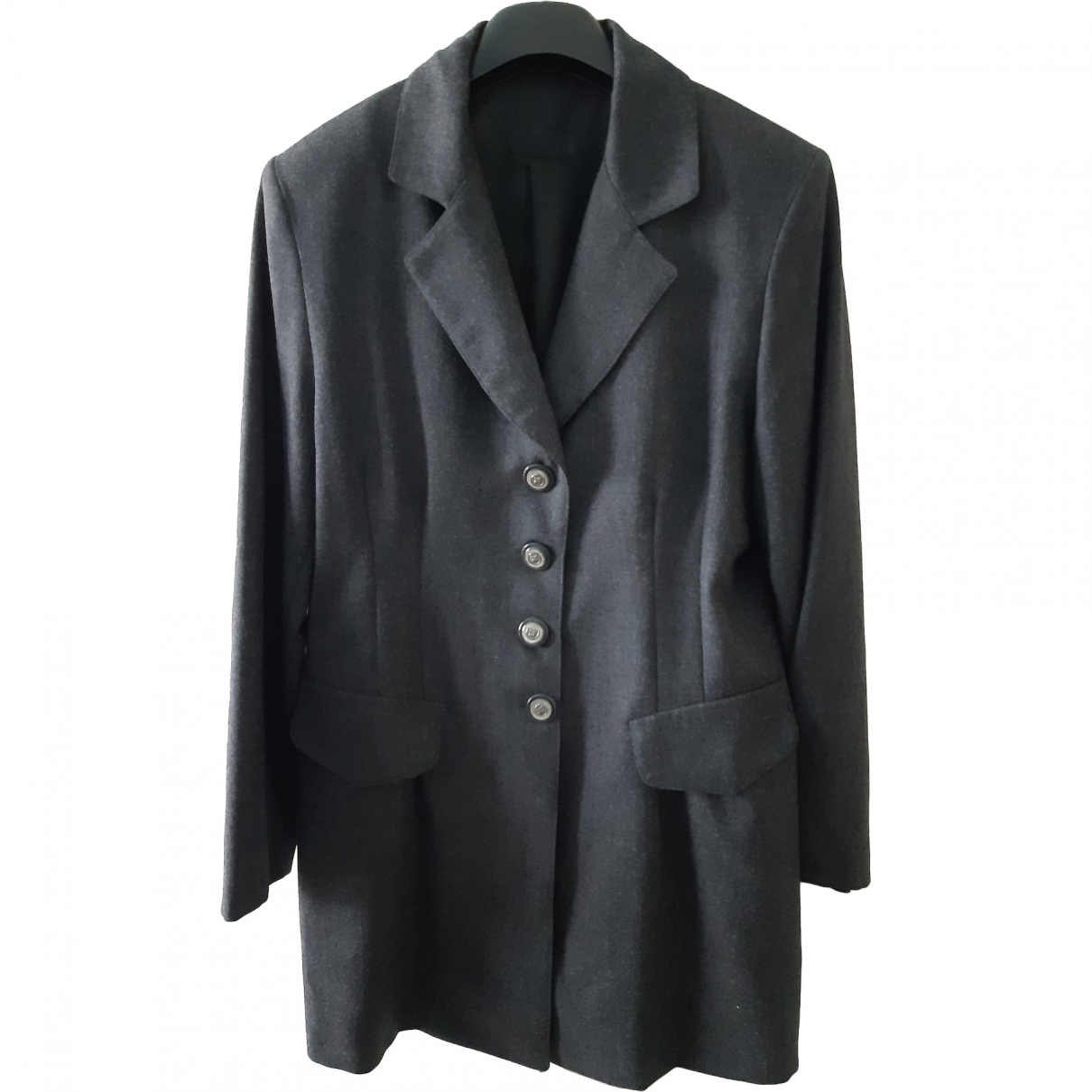 Non Signé / Unsigned \N Anthracite Wool jacket for Women 44 IT