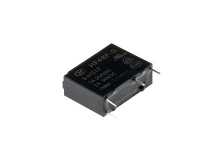 Hongfa Europe GMBH , 3V dc Coil Non-Latching Relay SPNO, 10A Switching Current PCB Mount Single Pole (5)