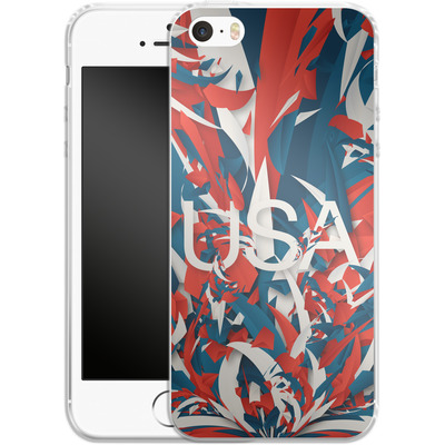 Apple iPhone 5 Silikon Handyhuelle - Colorful USA von Danny Ivan