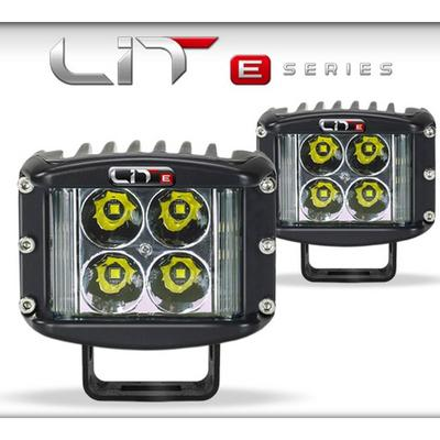 Superchips LIT E-Series Wide Shot LED Flood Light Pods with Power Switch - 72091