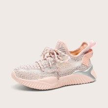 Girls Lace-up Front Wide Fit Sneakers