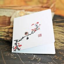 10pcs Plants Print Random Greeting Card