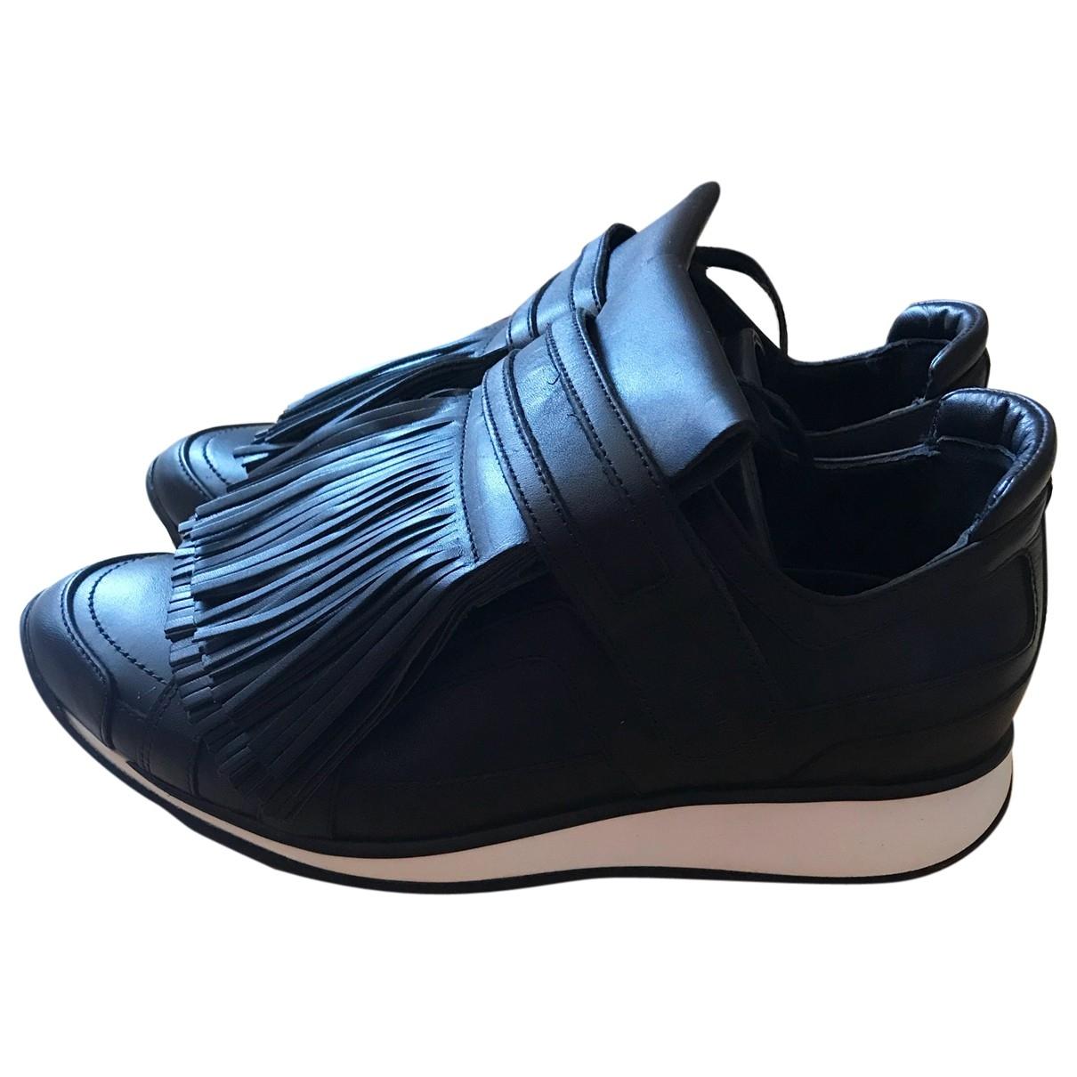 Pierre Hardy - Baskets   pour femme en cuir - noir