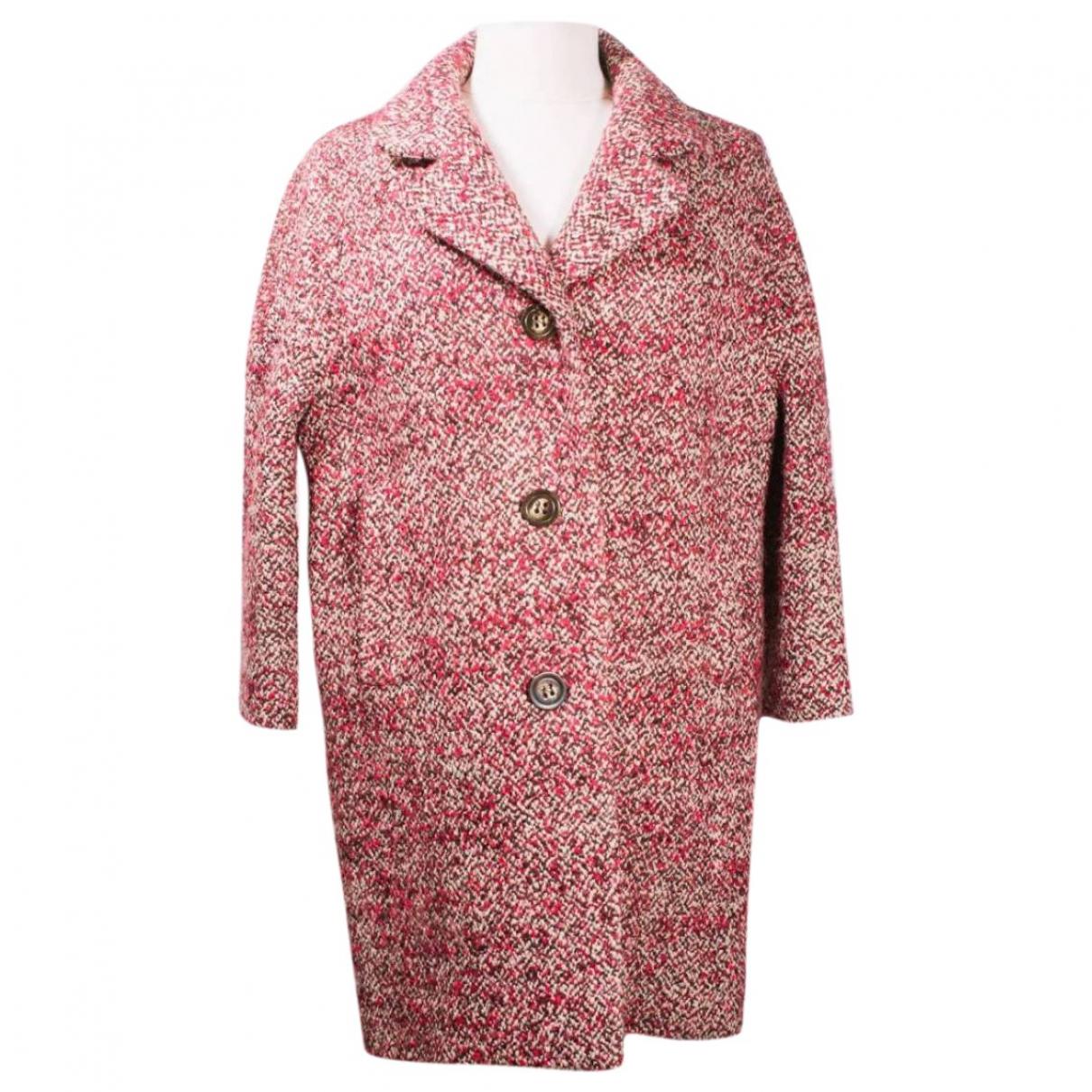 Tara Jarmon - Manteau   pour femme en laine - rouge
