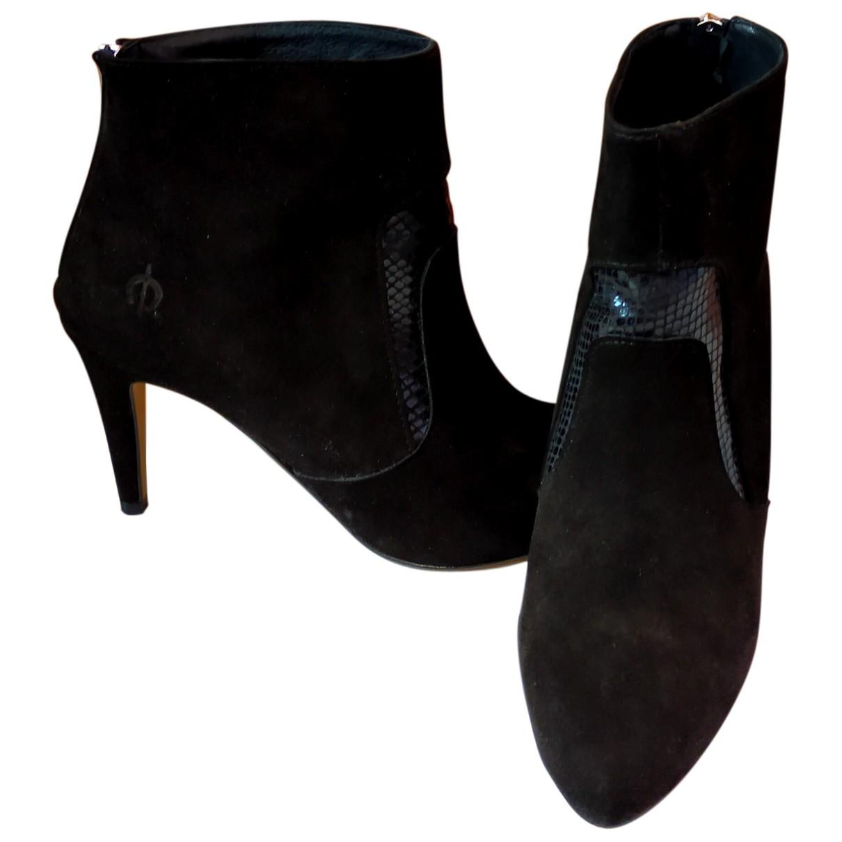 Autre Marque N Black Suede Ankle boots for Women 40 EU