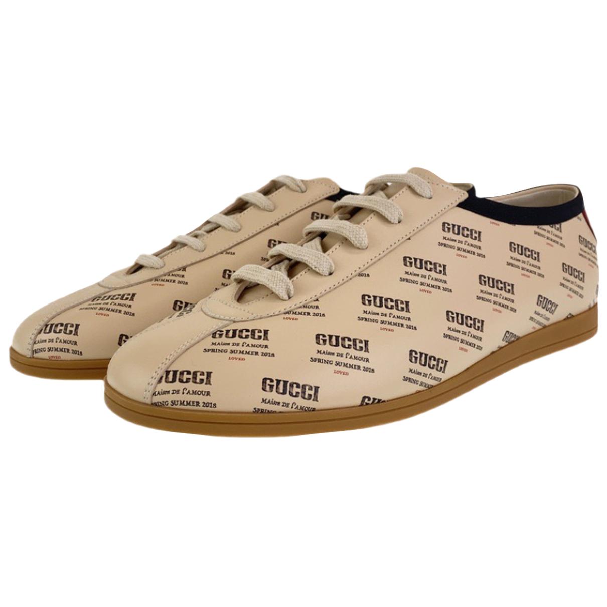 Gucci - Baskets   pour homme en cuir