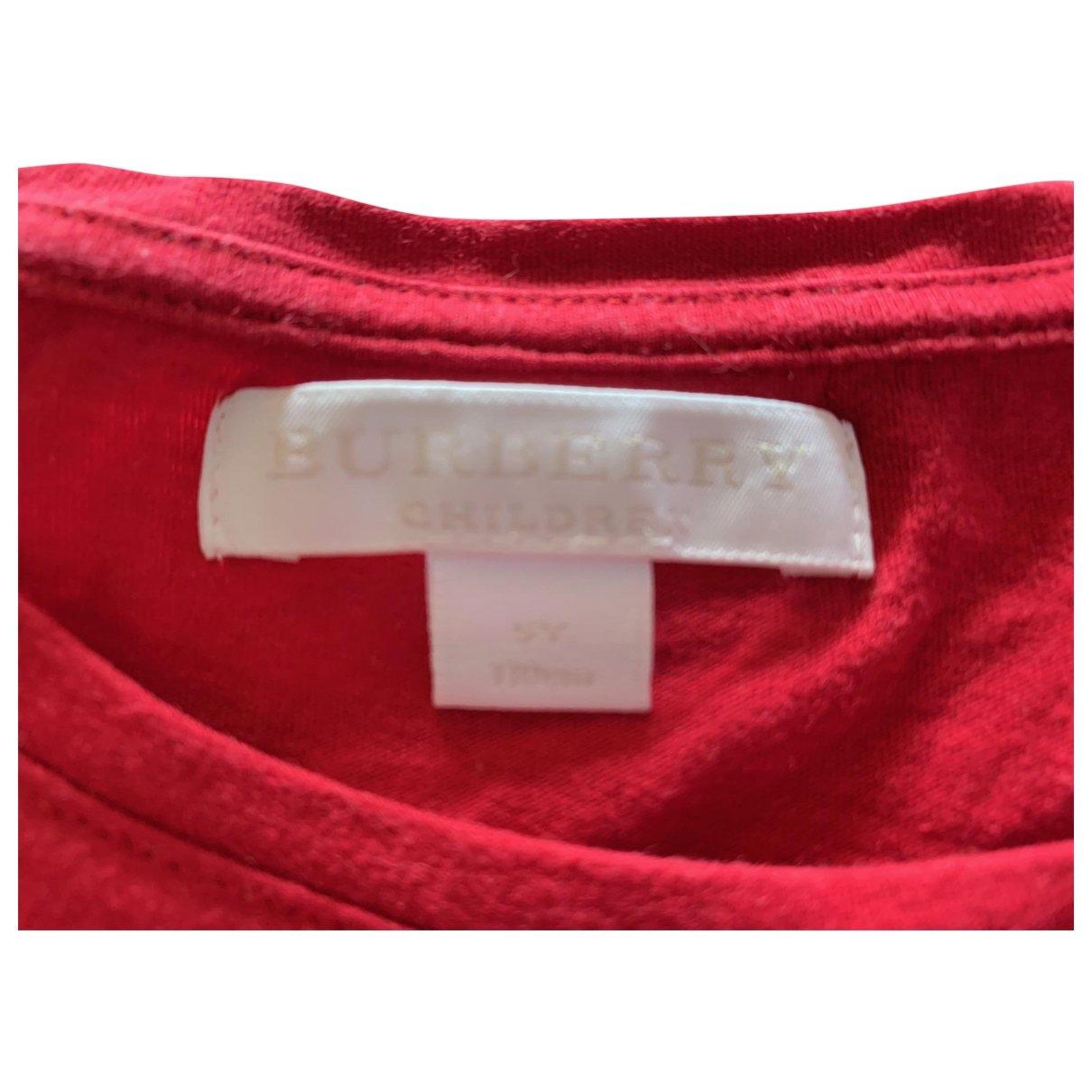 Burberry \N Oberteile in  Rot Baumwolle