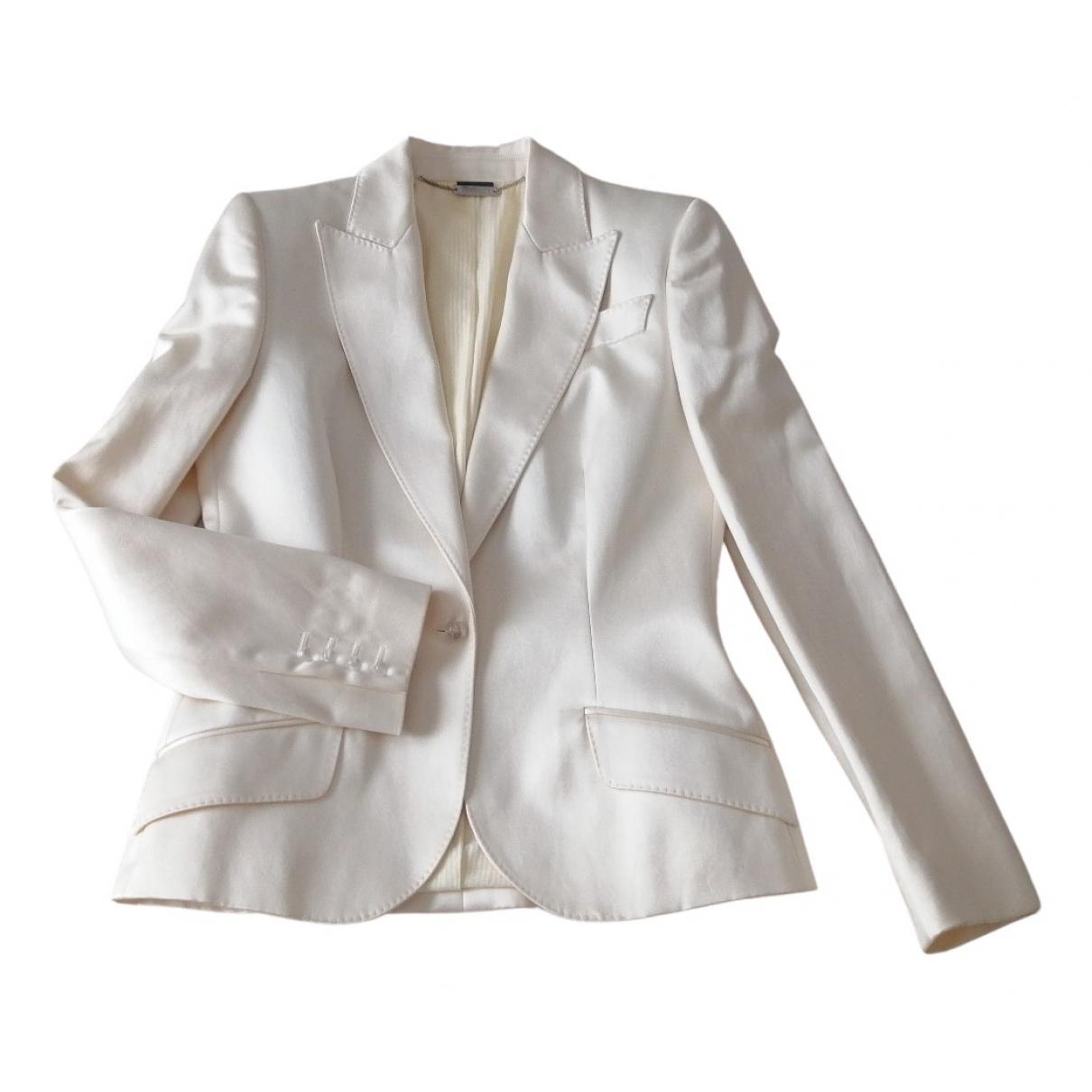 Alexander Mcqueen N White Silk jacket for Women 44 IT