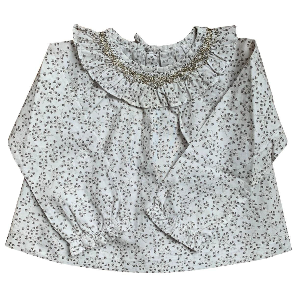 Jacadi - Top   pour enfant en coton - blanc